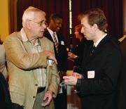 Bernard Grandjacques, left, of Grandjacques Planning and Jason Smida of Wilke & Associates.