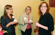 Shelley Wood, left, of Oglebay Resort and Nancy Hart, center, and Dana Snyder, both of Green Building Alliance.