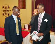 Carlos Carter, left, of Bank of America and Kevion Latham of Merrill Lynch.