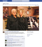 A screen capture of Samy and Amy Bouzaglo, owners of Amy's Baking Co. Bakery and Boutique Bistro in Scottsdale, from a photography posted on the company's Facebook page in January 2011.
