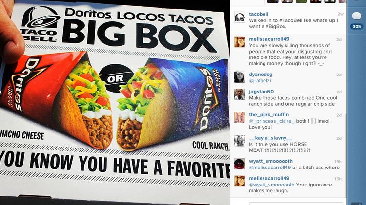 Taco Bell uses a number of social media sites, including Instagram, to reach out to a young audience.