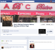 A screen capture of the new Amy's Baking Company Facebook page. It was created on Facebook early Wednesday morning.