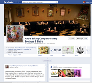A screen capture of the old Amy's Baking Company Facebook page. It was created several years ago.
