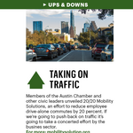 Taking on traffic and losing food trucks: The ups and downs in Austin business (Sept. 15-19)