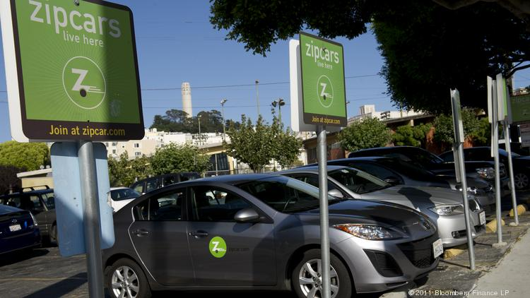 zipcar inc vehicles are parked in the companys spaces at a lot in san francisco