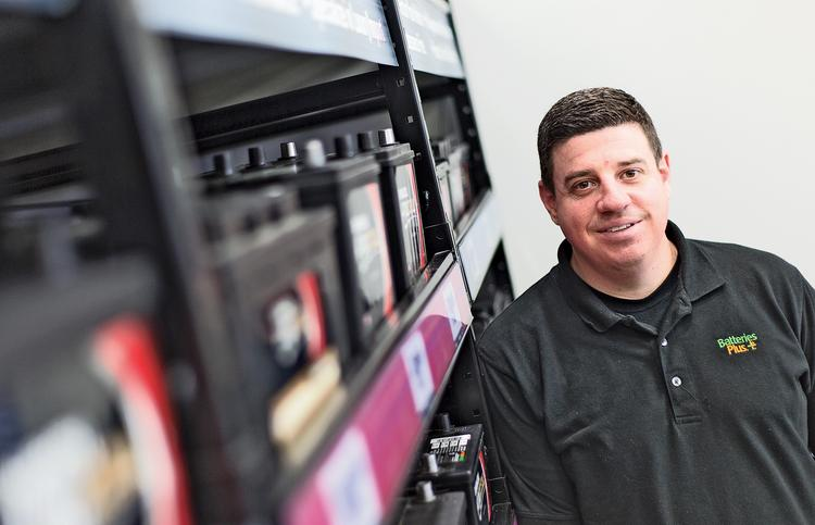 Dustin Myers owns Batteries Plus Bulbs stores in Timonium and Lancaster, Pa.