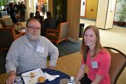 Frank Kulesza, left, from the Dulles Case Center, and Lauren Parsons of Centreville Chiropractic Center.