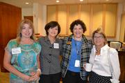 Maria Canora, from left, of Doukenie Winery, Dianne Murphy of Dinamic Communications, Sharon Meyers of the National Conference Center and Marantha Edwards, director of economic development for the town of Leesburg.