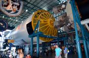 An actual Saturn V launch vehicle in the Apollo/Saturn V Center. Imagine, Tom Hanks rode one of these.