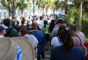 And like many good things in Florida, it ends with a long line and a bus ride.