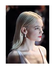 Carey Mulligan in Tiffany diamonds including pear-shaped diamond earrings from the 2013 Tiffany Blue Book Collection, at the premiere of The Great Gatsby, the Cannes Film Festival, May 15, 2013.