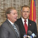 <strong>Lindsey</strong> <strong>Graham</strong> touts Thom Tillis in uptown Charlotte