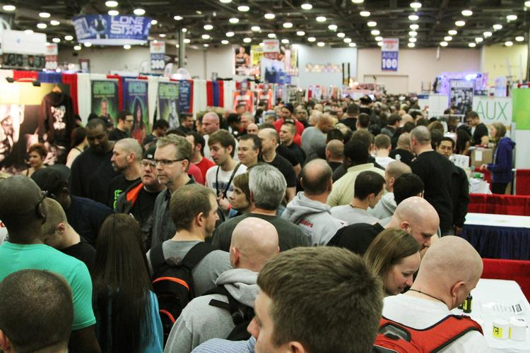 Opening day of the Arnold Sports Festival this year drew the usual big crowds to Columbus.