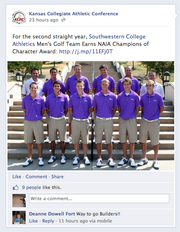 Social Madness Contestants Kansas Collegiate Athletic Conference
