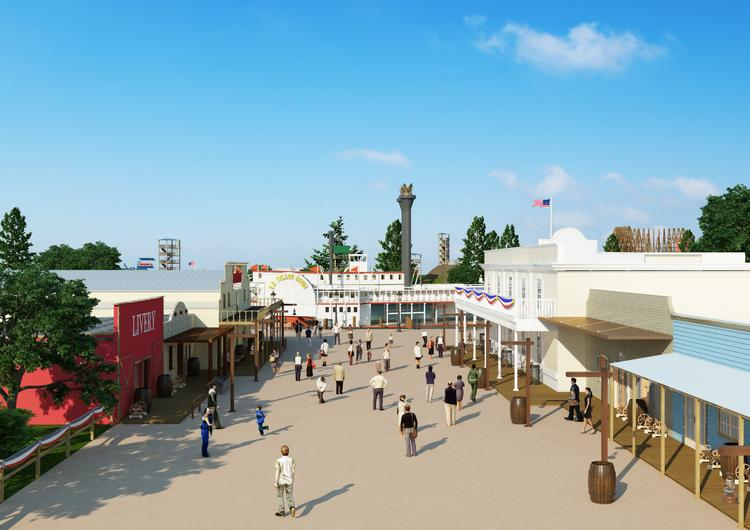 The Texas Grand Theme Park will have seven theme areas focused on Texas history and culture.
