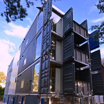 D c 39 s first shipping container apartments are finished Container appartement