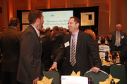 Michael Eckhardt of Merrill Lynch and Bryon Bailey of Vigilant were two of the 500 guests who attended the Portland Business Journal's CFO of the Year event.