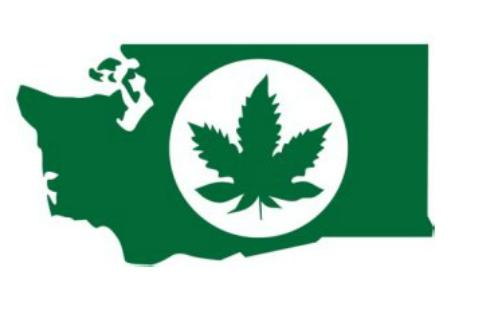 The official Washington state logo issued by the State Liquor Control Board for marijuana licensees.