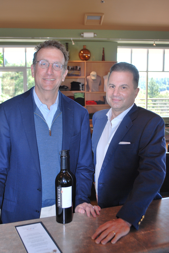 Sam Bronfman (left) and Peter Kaufman founded the wine industry-focused private equity firm Bacchus Capital Management.