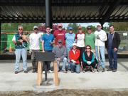 Employees at construction firm Skanska and their network of associates volunteered time and materials to rebuild a shelter at Seattle's Magnuson Park.