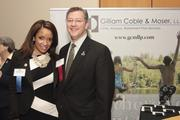 40 Under Leaders Under Forty honoree Nadia Shirin Moffett and Scott Williams of Gilliam Coble & Moser, the co-sponsor of the awards program.