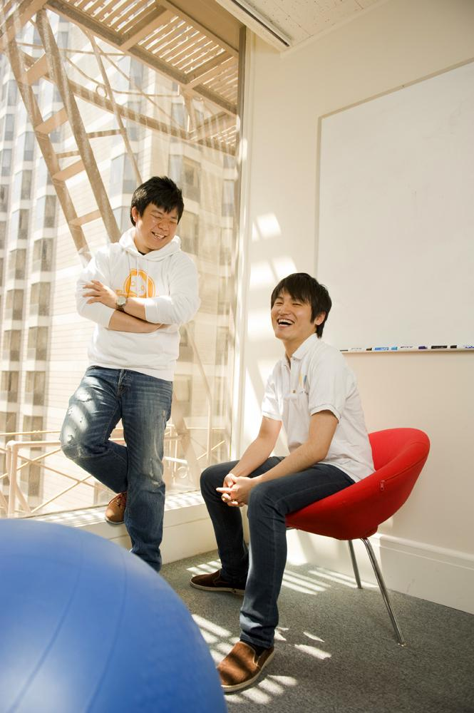 """We try to focus on sales, which is really working,"" says AnyPerk CEO Taro Fukuyama, right, with co-founder Sunny Tsang."