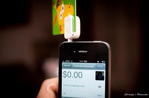 The Square service allows smartphone users to accept credit card payments.