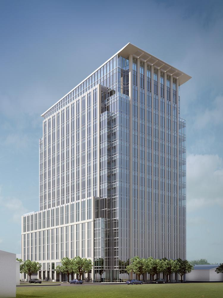 Hines' proposed office structure at 2229 San Felipe in the River Oaks neighborhood.