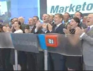 Marketo CEO Phil Fernandez and other execs were on hand for Nasdaq's opening bell when the company's shares debuted on Friday.