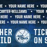 Buy a Sixers ticket, get your name on a billboard