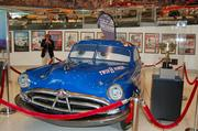 Doc Hudson car from Disney's 2006 animated feature Cars. The car was built by Gunnar Racing in tribute to Paul Newman and the Fabulous Hudson Hornet and driven at the film's premiere at Charlotte Motor Speedway.