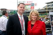 Rick Axthelm of Alpha Natural Resources and U.S. Rep. Cynthia Lummis, R-Wyo., attend an event at Nationals Park on May 15.  The event was a fundraiser for Horton's Kids.