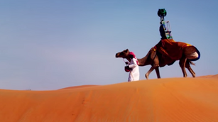 Google Camel records street view of Arabian desert Oasis
