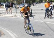 Joe Fabris, CEO of Plus 3 Network, shoots down Baily Avenue during the Silicon Valley Time Trial Charity Challenge.