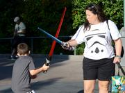 Parental guidance takes on new meaning when lightsabers are involved.
