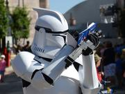 A Clone Trooper signs an autograph. And you wonder why I love this stuff.