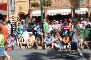 The parade crowd is looking chipper. And it's only 18 minutes after 10 a.m.