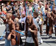 Padawans from the Jedi Training Academy get to march in the parade as well.