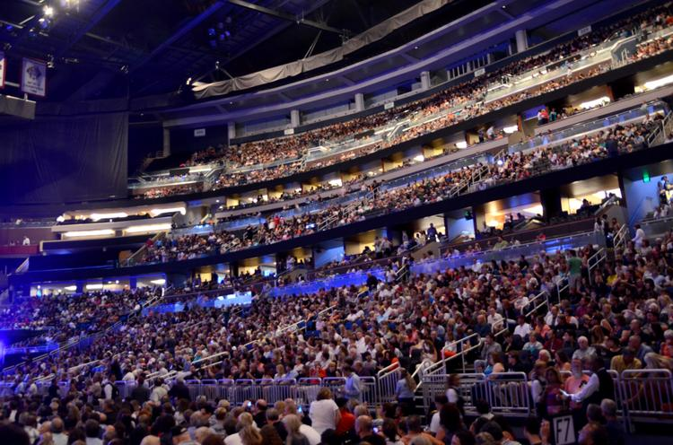 A packed house at Amway Center for the first night of Paul McCartney's Out There tour.