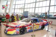 Ricky Bobby's Wonder Bread car from the 2006 film Talladega Nights: The Ballad of Ricky Bobby was one of the five featured cars of the exhibit. The car was driven for the film at the Rockingham Speedway, the Talladega Superspeedway and the Charlotte Motor Speedway.