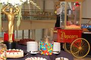 Guests were treated to a variety of carnival and cinema-style treats to get them into the exhibit theme.