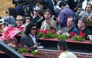 Gene Simmons from Kiss makes an appearance  at the Preakness .