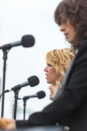 The Band Perry performs as part of the Preakness InfieldFest at Pimlico Race Course on Saturday.