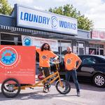 Pedal power: Laundry courier rolls into town