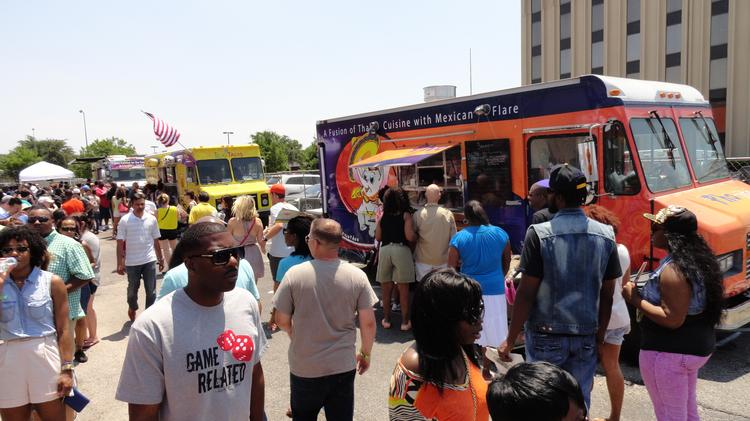 Houston City Council plans to consider three recommended changes to food truck regulations developed by a task force over the past two years. Pictured: 2013 Houston Food Truck Fest