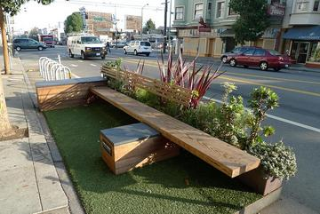 Boston swaps parking for 'parklets'