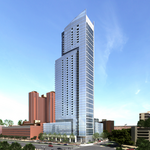 Behind the revamped look of the 414 Light St. tower