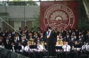 The Morehouse Glee club provided music for the graduation.