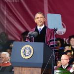 SLIDESHOW: Obama becomes a Morehouse Man during soggy commencement ceremony