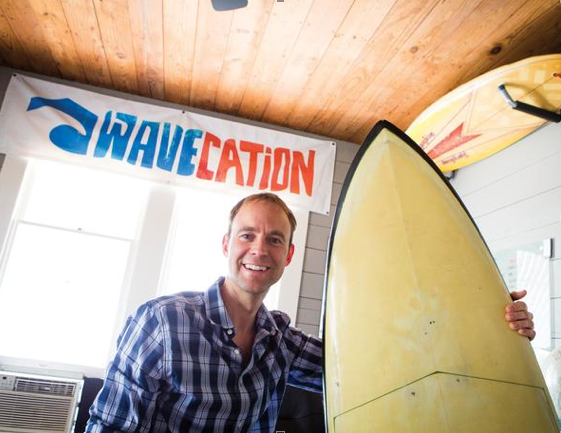 Matt Thomson founded Wavecation LLC in 2011 to reach vacationers looking for homes to rent where the surf is up.